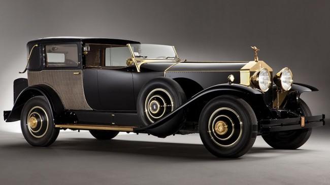 Nem aktuális divathóbort a matt festés: amerikai Phantom I Riviera Town Brougham (1929), a Brewster & Co. szabóságból - 7,7 l-es sorhatos vitte