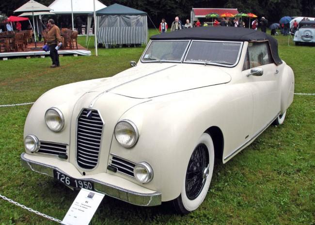 1950-es Talbot-Lago T26 Record - nem olyan cicomás, mint a Figoni- és a Saoutchik-változat, de elegáns