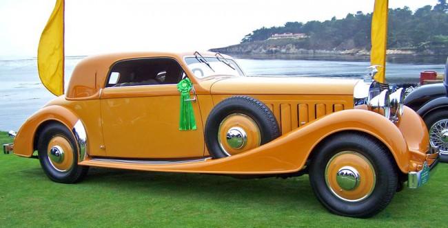 A legnagyobb Hispano, a tizenkét hengeres J12 1933-ból. Egyszerű formavilágú, de elegáns sportkasztnit szabtak rá