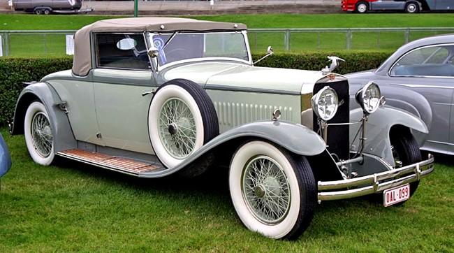 Több Hispano-típus vendégeskedett a műteremben, a csúcsmodell J12-es, a H6-os és a képen látható T49-es